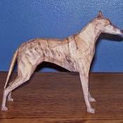 Greyhound Dog Papercraft