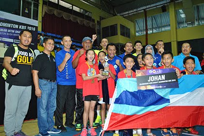 Sabah dinobat juara Kejohanan Kem Bakat Badminton KBS 2016