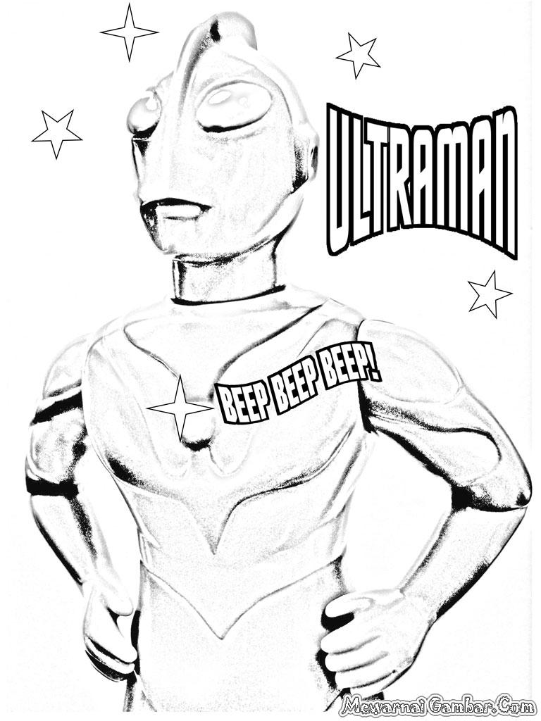 Gambar Sketsa Ultraman 28 Mewarna Mewarnai