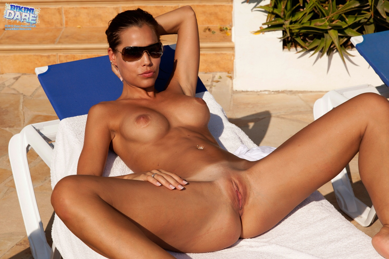 dare naked Bikini Asian