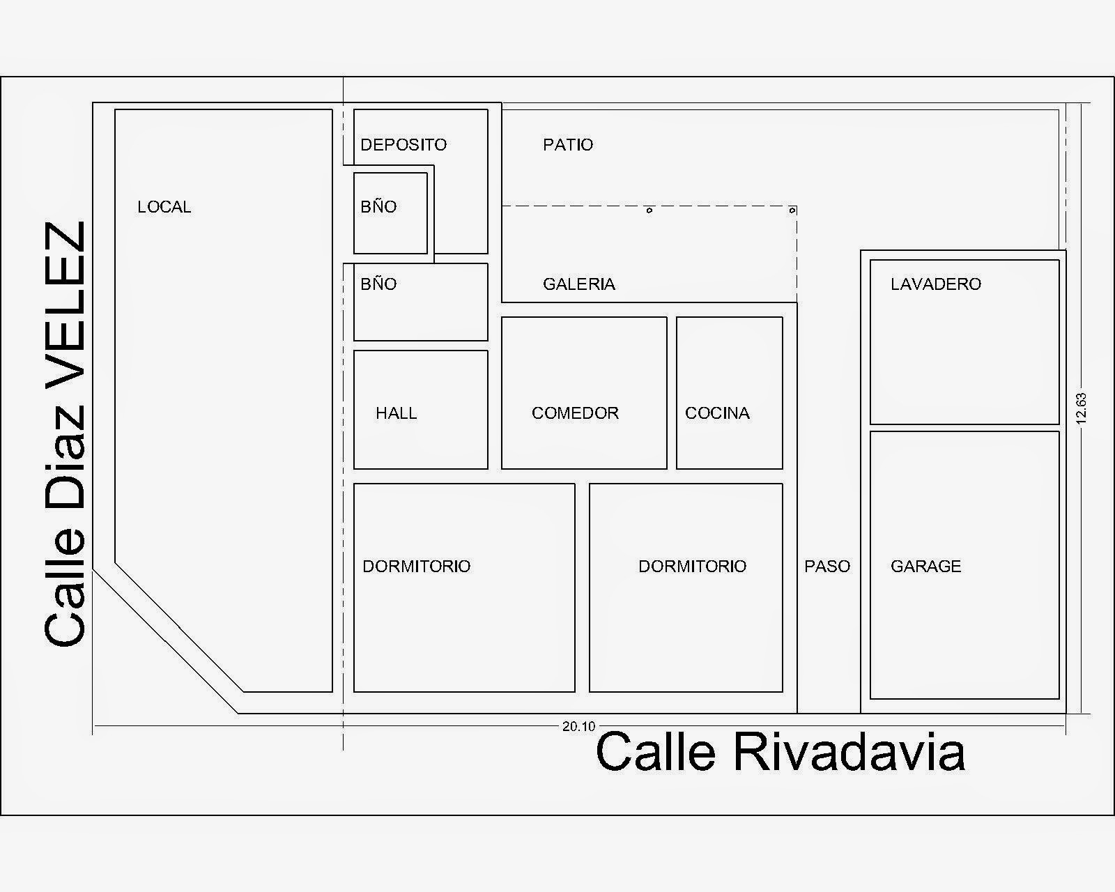 Basilio di candilo inmobiliaria rauch for Planos de locales
