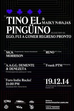 Evento: Tino El Pingüino Release Party Diciembre 19 @ México DF