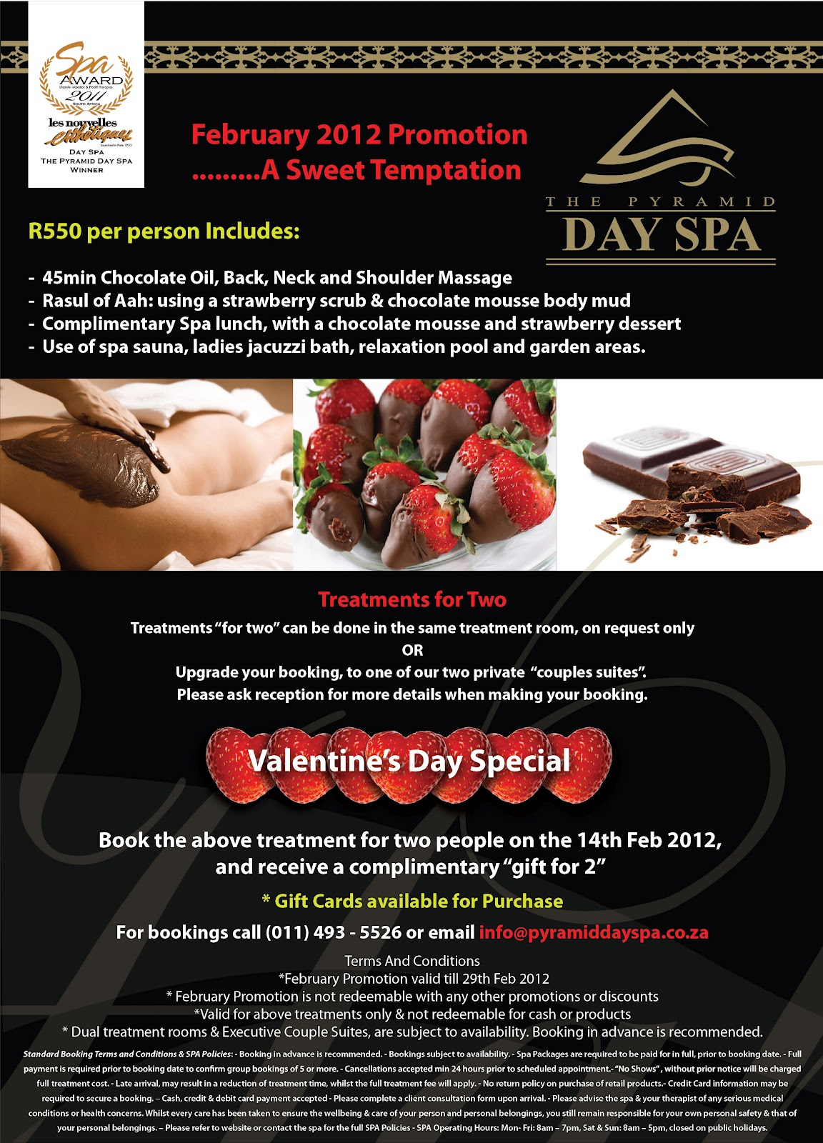 Win Big Valentine S Package For 2 At The Pyramid Day Spa Worth