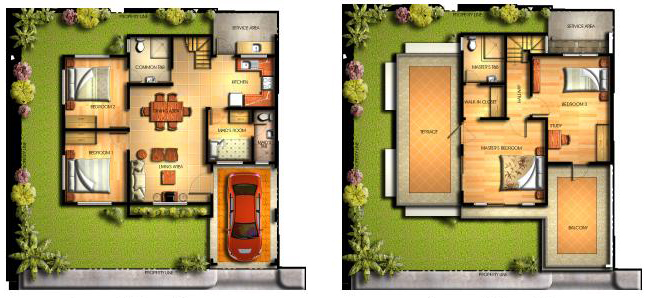 Amanda House Model Floor Plan at Mission Hills Antipolo