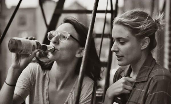 Greta Gerwig and Mickey Summer in Noah Baumbach's Frances Ha