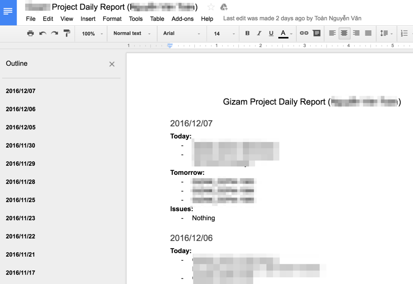 Open Source Development Misc How To Write Daily Reports