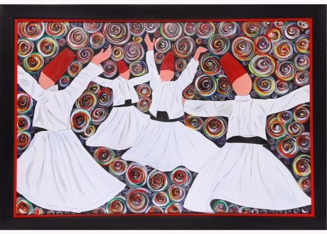 Whirling Dervish by artist Shruti Vij, Image courtesy artist