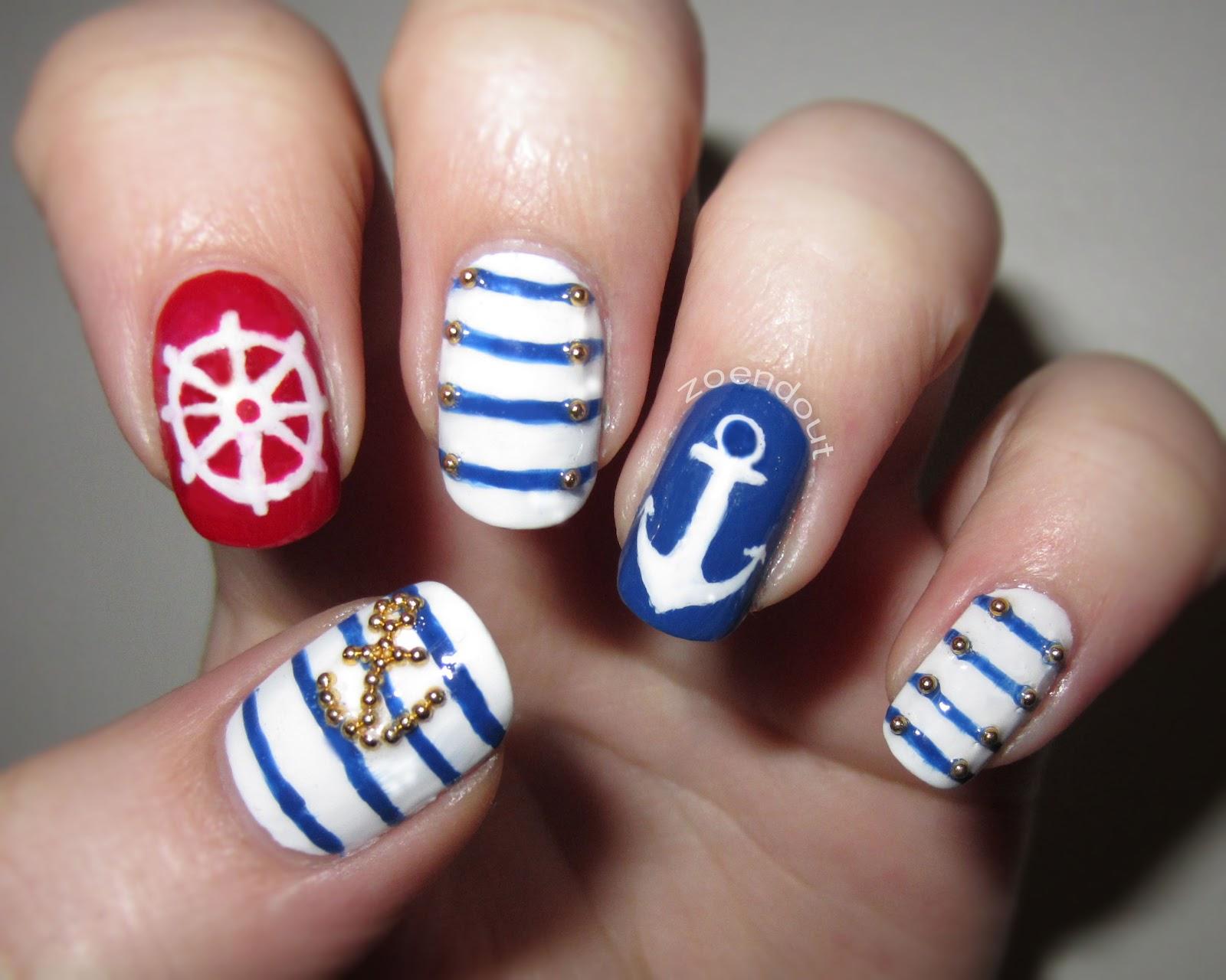 Дизайн ногтей морской тематики фото