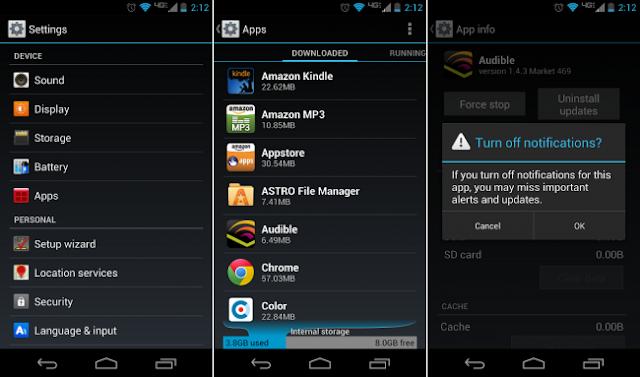 Description: Cara Menonaktifkan Notifikasi dari Aplikasi di Android