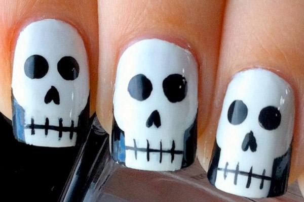 10 modelos de unhas decoradas fáceis e rápidas para o Halloween - Tutoriais, pap, dye - Vídeo