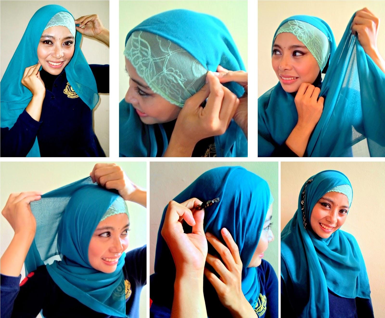 Tutorial Hijab Segi Empat Kusut