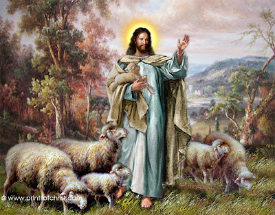 Jesus Holding Lamb Oil Painting
