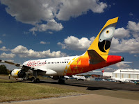 fastjet A320 at Fed Air's Joburg  ORTIA facility
