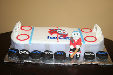 Girls Ice Hockey Cake