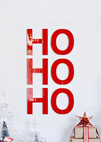 DIY Ho Ho Ho Art