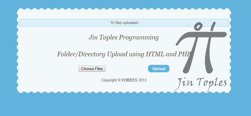 Cara Membuat Upload Folder Dengan HTML5 dan PHP   Jin Toples ...