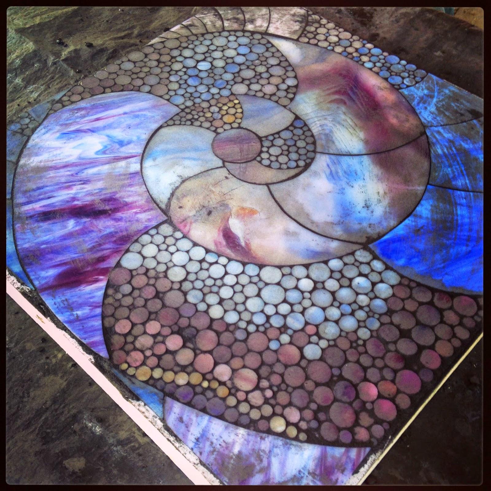 kasia mosaics  purple spiral