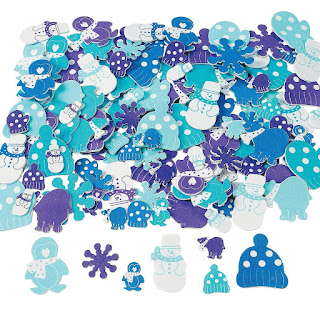 Box of 500 winter themed foam stickers for all kinds of Girl Scout crafts.