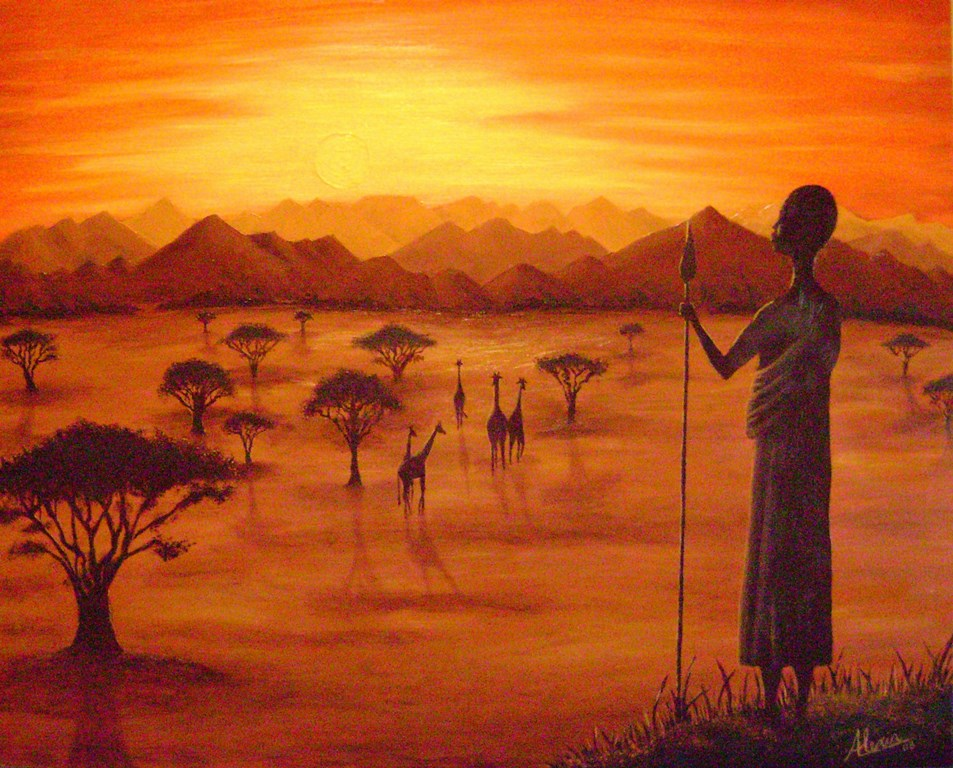Pinturas cuadros lienzos cuadros de africanas para pintar - Cuadros de pintura ...
