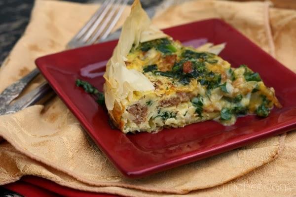 Cheesy Italian Sausage & Kale Quiche