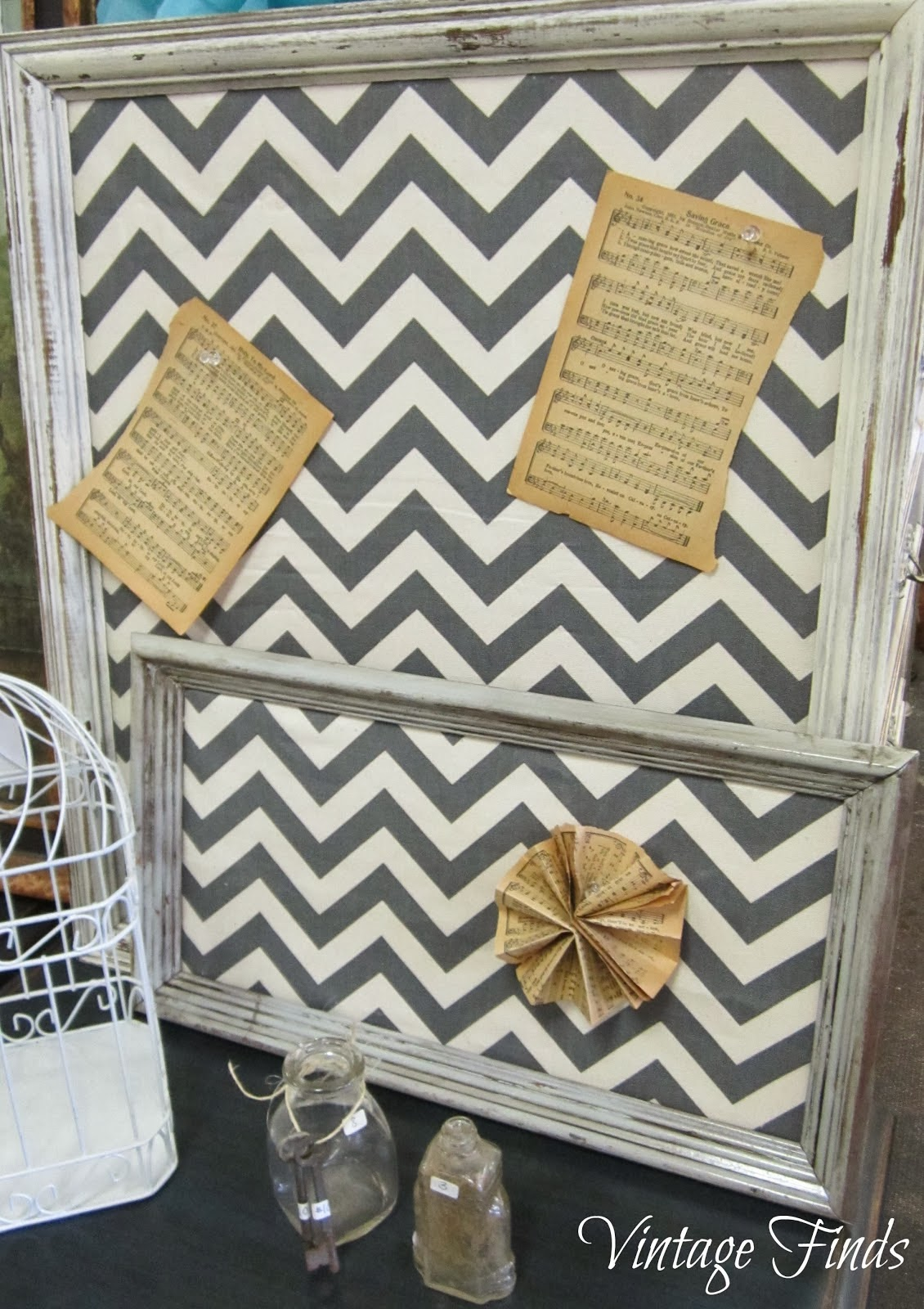 DIY Chevron Pushpin Boards