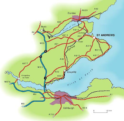 Map of Fife City Area