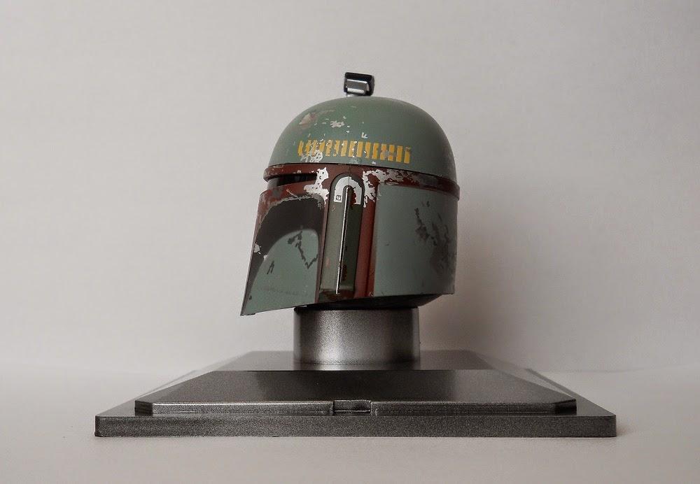 casco en miniatura de cazarrecompensas Boba Fett