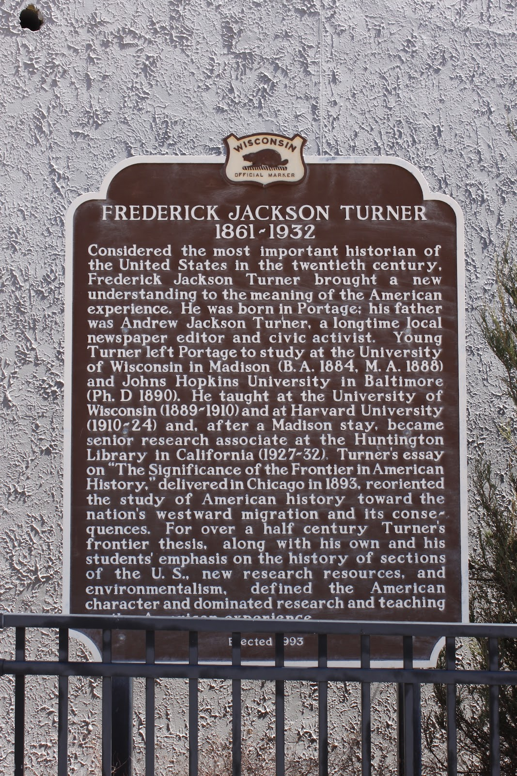 frederick jackson turner frontier thesis main points Start studying frederick jackson turner test frederick jackson turner's thesis frederick jackson turner's 5 main points 1.
