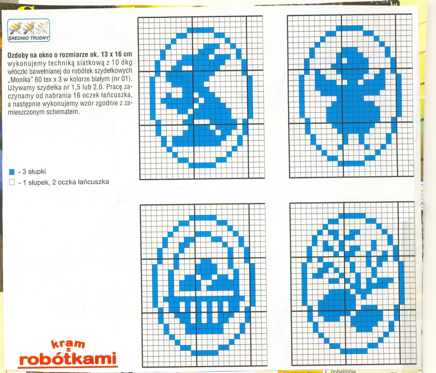 Схемы вязания крючком салфеток пасхальных 100