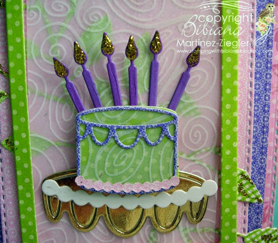 memory box dies birthday cake