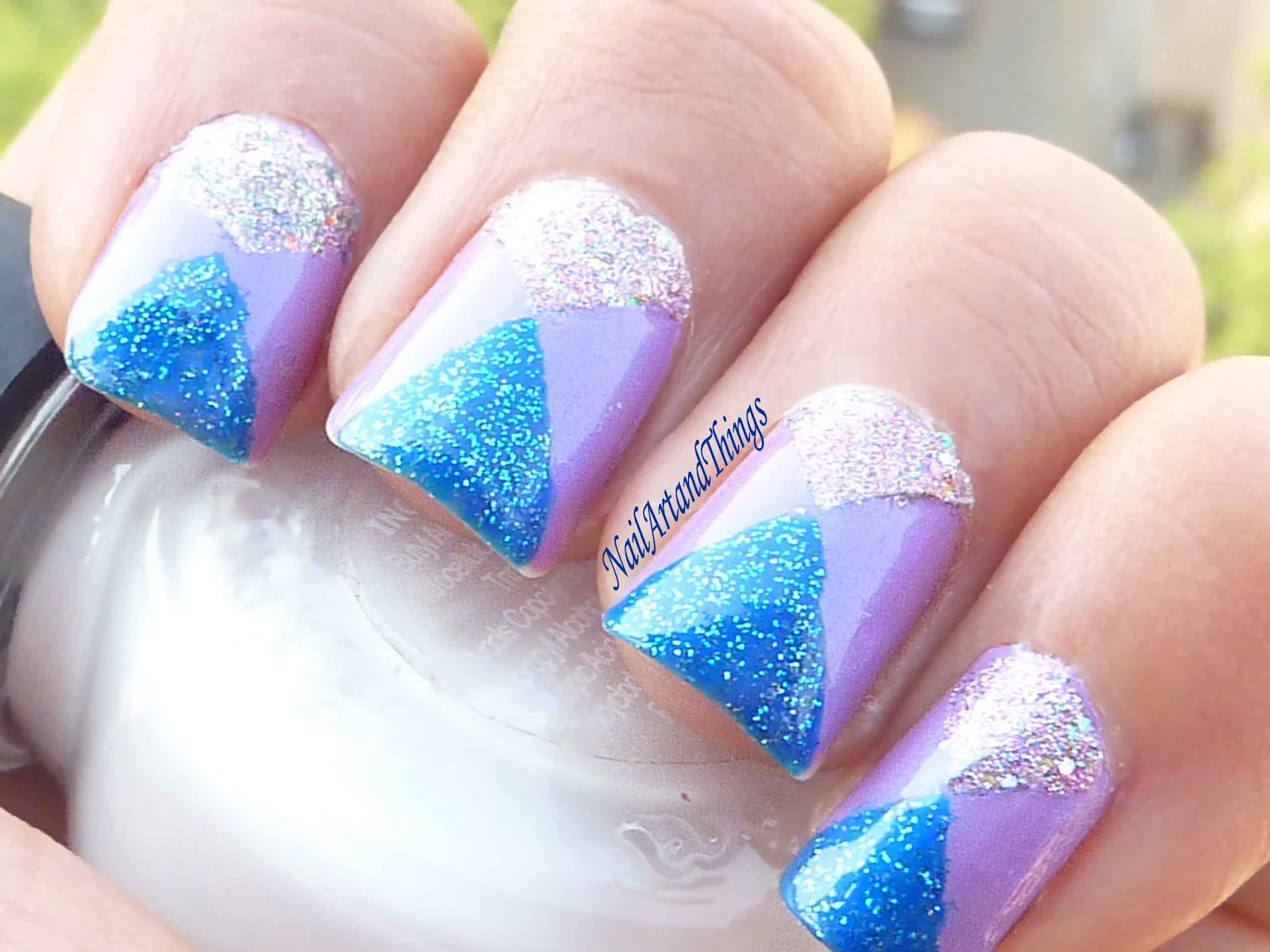 Nailart and things mirrored triangles tape nail art mirrored triangles tape nail art prinsesfo Choice Image