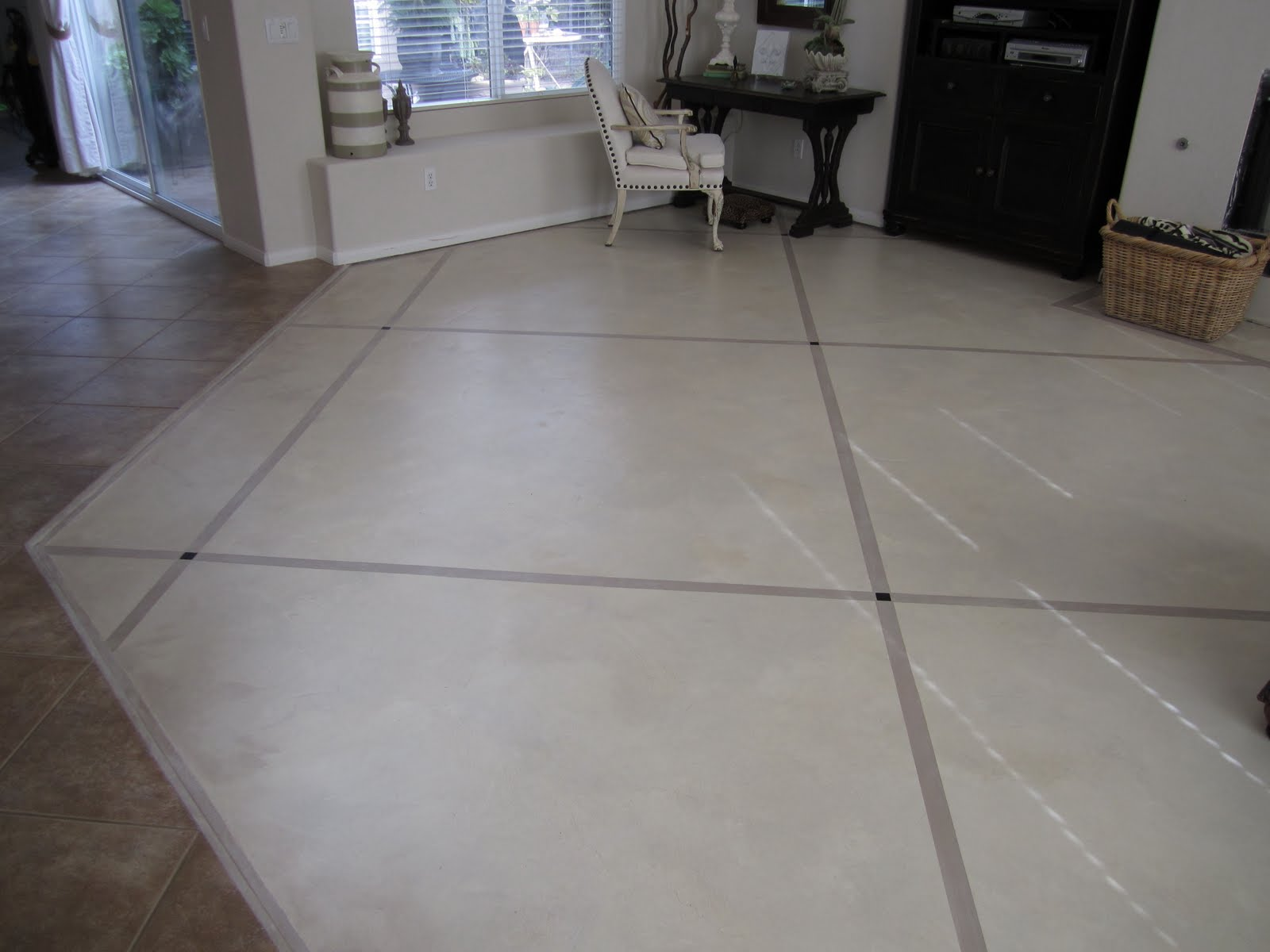 Anythingology step by step instructions on how to prep for Painting on concrete floor
