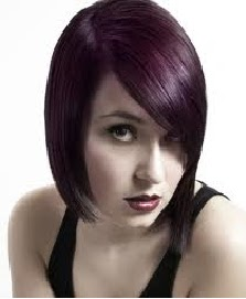 black hair styles black hair purple highlights for women