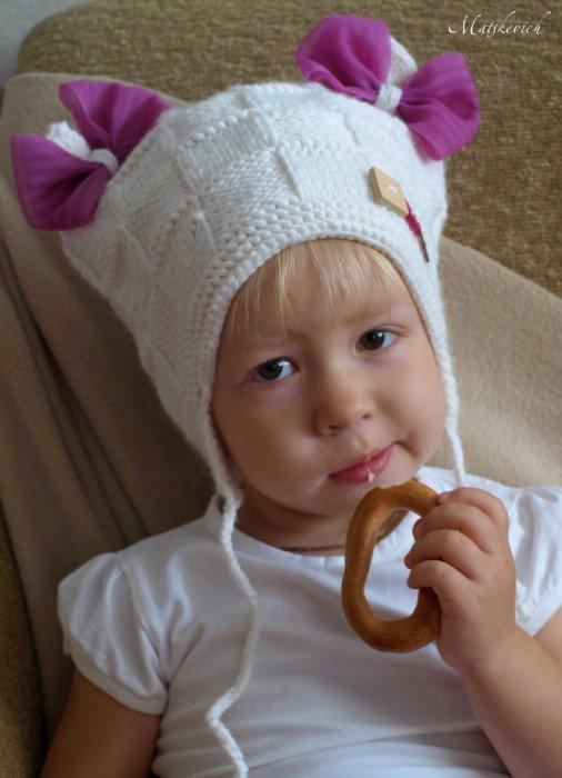 Связать шапку девочке