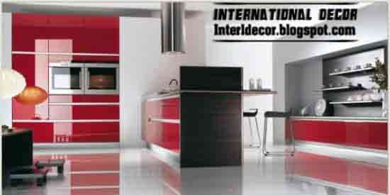 New Classic Red kitchen Designs - kitchen Designs in Red color