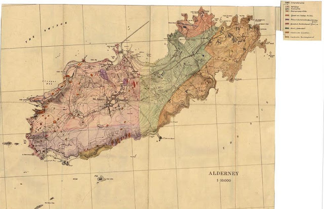 Geological map of Alderney