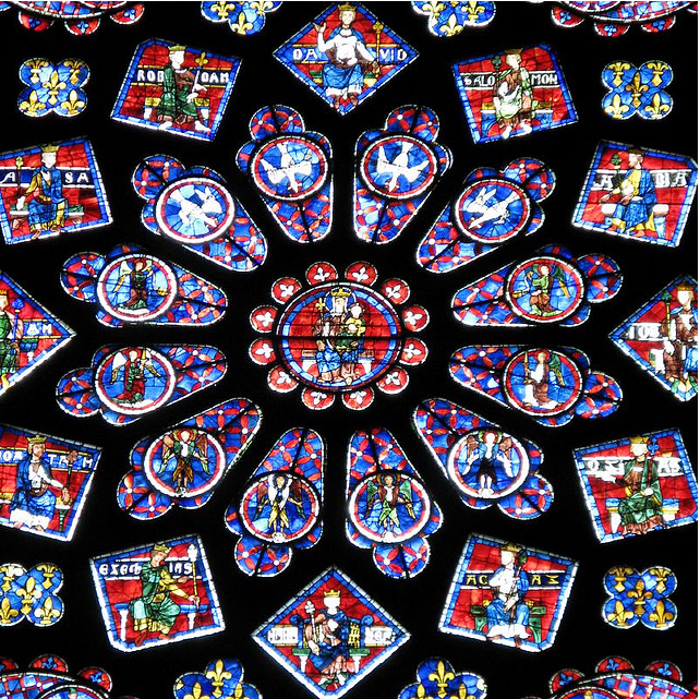 images and information chartres cathedral interior rose window
