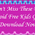 Don't Miss These Best Android Free Kids Games - Download Now