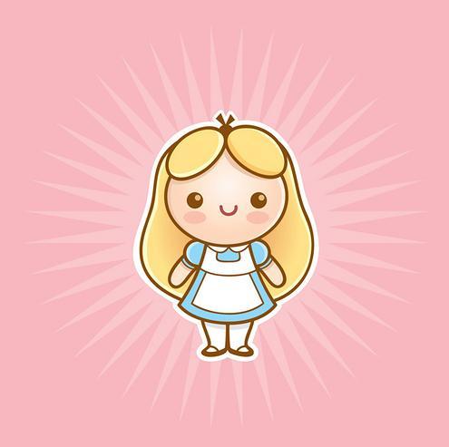 Alice in wonderland cute babe 8