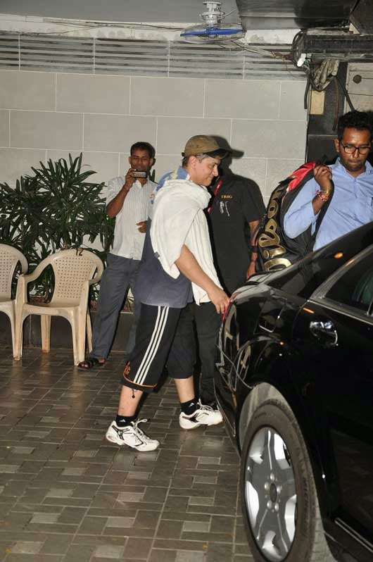 Aamir Khan snapped post work out