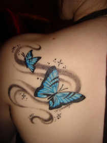 New Butterfly Tattoos on Shoulder