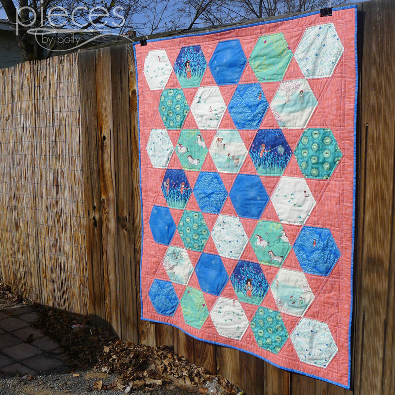Pieces by Polly: All-Boy Wee Wander Hexie Quilt in Blues : hexie quilt - Adamdwight.com