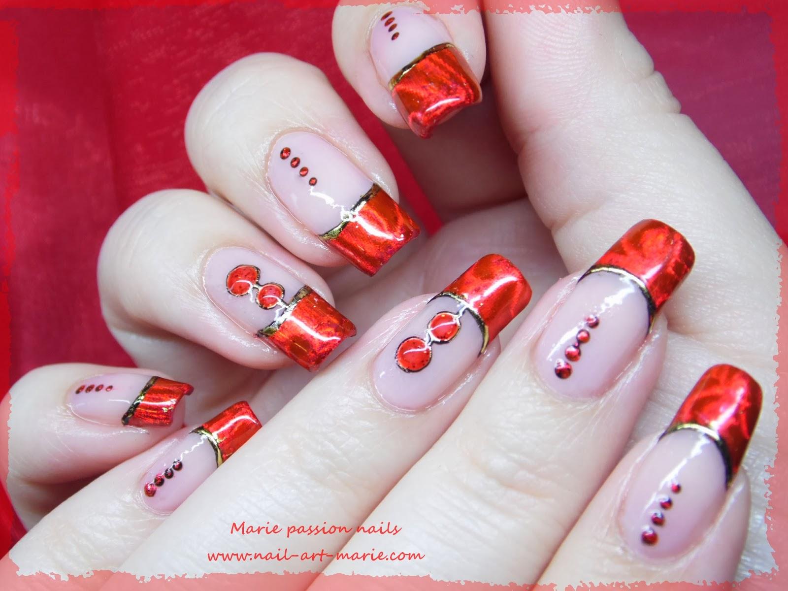 Nail art Saint Valentin1
