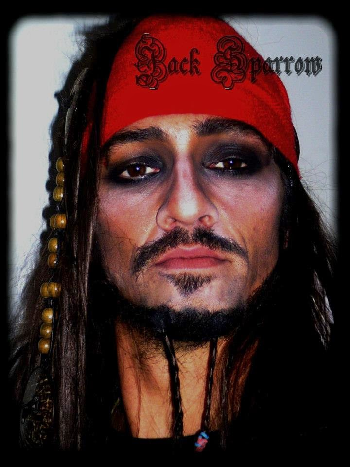 Maquillage pirate Jack Sparrow