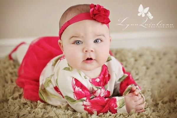 Image b b 6 mois tres mignon b b et d coration - Image bebe fille ...