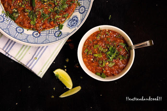 punjabi lobia dal recipe with step by step pictures