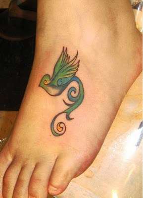 Birds tattoos for you bird tattoos on foot for Birds on ankle tattoo