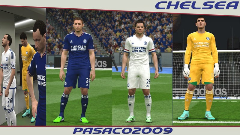 PES 2015 Chelsea 15-16 Kits by pasaco2009