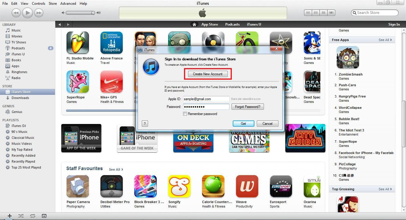 how to make a new itunes account without credit card