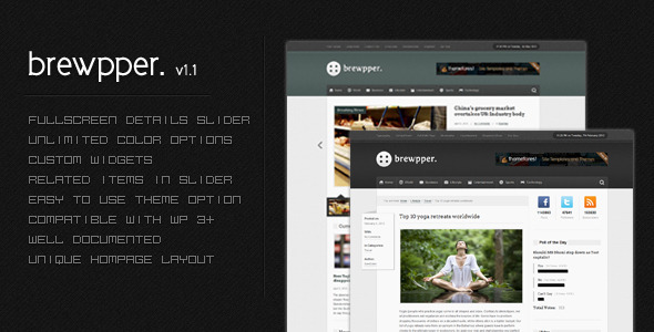 Image for Brewpper – Dynamic News Theme by ThemeForest